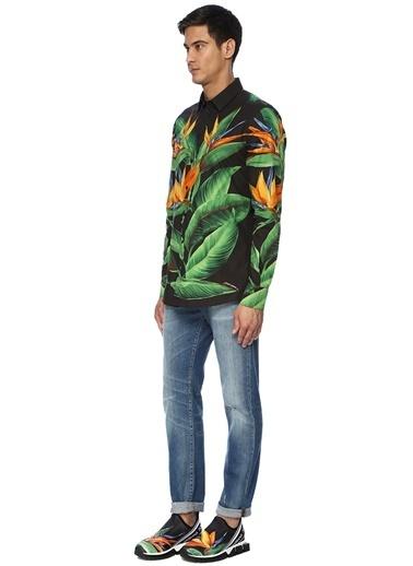 Dolce&Gabbana Dolce&Gabbana Martini   Yaprak Baskılı Gömlek 101431572 Renkli